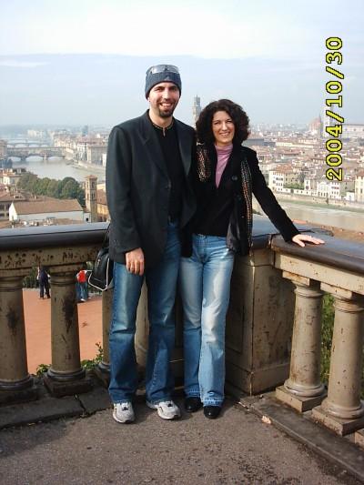 la splendida vista della città da piazzale Michelangelo