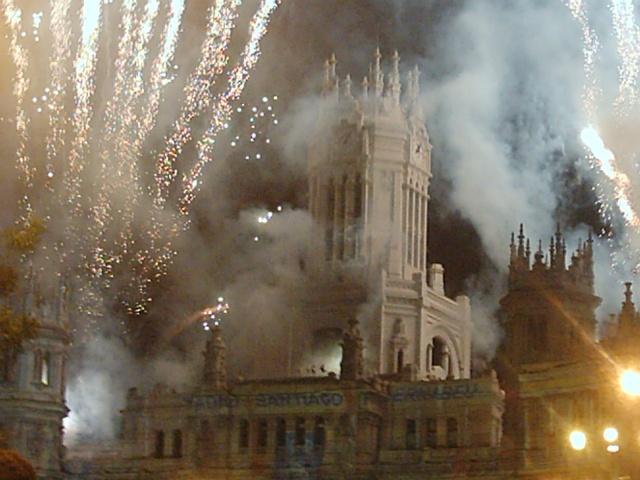 Cibeles - festeggiamenti per la vittoria dello scudetto del Real Madrid