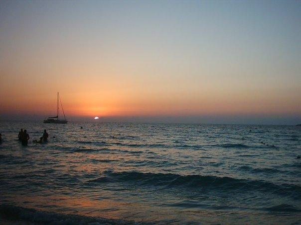 tramonto su Negril