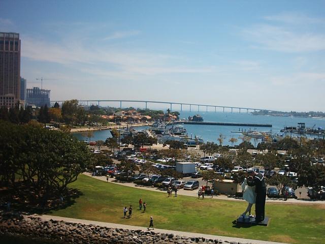San Diego - vista della baia e ponte del Coronado