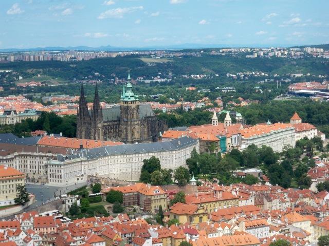 vista su Praga dalla Torre di Petrin