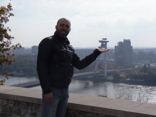 Il Ponte Nuovo e l'UFO visti dal Castello