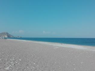 La spiaggia di Afandou